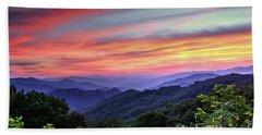 Blue Ridge Mountain Color Beach Sheet