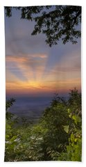 Blue Ridge Mountain Sunset Beach Towel