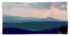 Blue Ridge Mountain Sunset Beach Sheet