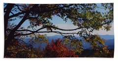Beach Sheet featuring the photograph Blue Ridge Mountain View by Debra Crank