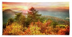 Blue Ridge Mountains In Autumn Beach Towel