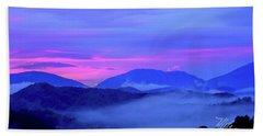 Blue Ridge Mountains Sunset Beach Towel