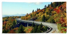 Beach Towel featuring the photograph Blue Ridge Parkway Viaduct by Meta Gatschenberger