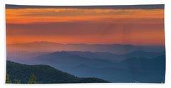 Blue Ridge Sunrise At Wintergreen  Beach Towel