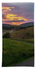 Blue Ridge Sunset Beach Towel