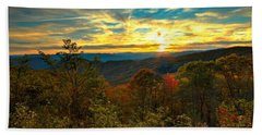 Blue Ridge Sunsets Beach Towel