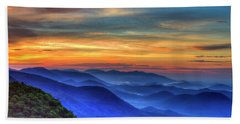 Beach Towel featuring the photograph Blue Ridges 2 Pretty Place Chapel View Great Smoky Mountains Art by Reid Callaway