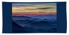 Beach Towel featuring the photograph Blue Ridges Pretty Place Chapel by Reid Callaway