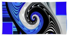 Beach Towel featuring the digital art Blue River by Shadowlea Is