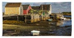 Blue Rocks, Nova Scotia Beach Towel by Ken Morris
