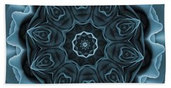 Blue Rose Mandala Beach Sheet