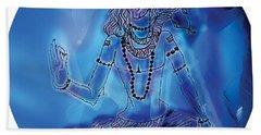 Blue Shiva  Beach Towel