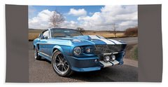 Blue Skies Cruising - 1967 Eleanor Mustang Beach Towel