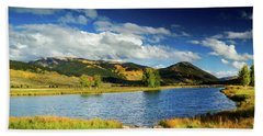 Beach Sheet featuring the photograph Blue Skies Over Crested Butte by John De Bord