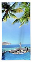 Beach Towel featuring the photograph Blue Sky Breezes by Phil Koch