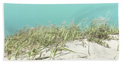 Beach Sheet featuring the photograph Blue Sky Over Sea Grass by Cindy Garber Iverson
