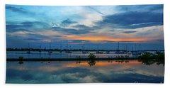 Blue Sky Sunset Beach Sheet by Tom Claud