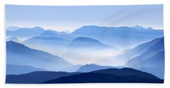 Blue Smoky Mountains Beach Towel