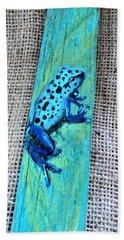 Blue-spotted Tree Frog Beach Towel by Ann Michelle Swadener