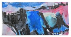 Blue Square Beach Towel