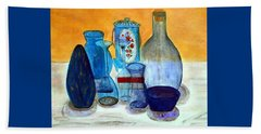 Blue Still Life Beach Sheet