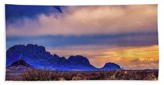 Blue Sunset Nm-az Beach Towel by Diana Mary Sharpton