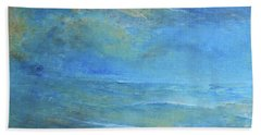 Beach Towel featuring the painting Blue Sunset by Jane See