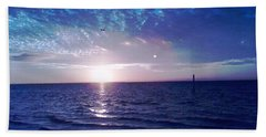 Blue Sunset Beach Towel by Vicky Tarcau