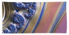 Blue Swirly Fractal 2 Beach Towel