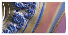 Blue Swirly Fractal 2 Beach Sheet