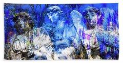 Blue Symphony Of Angels Beach Sheet