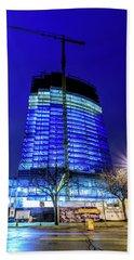 Beach Sheet featuring the photograph Blue Tower Rising by Randy Scherkenbach