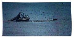 Blue Trawler 1 Beach Towel