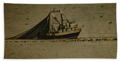 Blue Trawler 2 Beach Towel