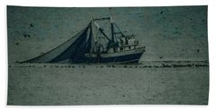 Blue Trawler 3 Beach Towel