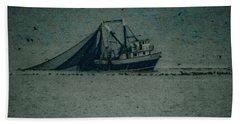 Blue Trawler 3 Beach Sheet