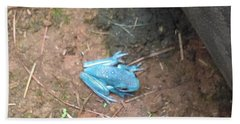 Blue Tree Frog Beach Sheet by Stacy C Bottoms
