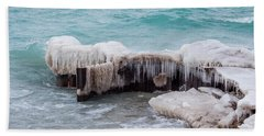 Blue Water And Ice Beach Towel