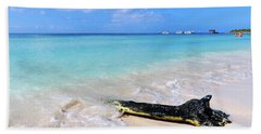 Blue Water And White Sand Beach Towel