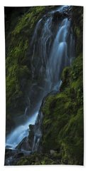 Blue Waterfall Beach Towel