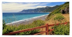 Beach Towel featuring the photograph Blue Waters Of The Lost Coast by James Eddy