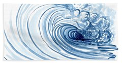 Perfect Storm Paintings Beach Towels