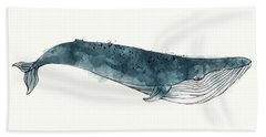 Blue Whale From Whales Chart Beach Towel