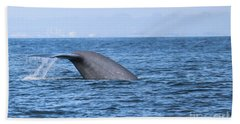 Beach Towel featuring the photograph Blue Whale Tail Flop by Suzanne Luft