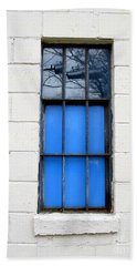 Blue Window Panes Beach Towel by Sandra Church