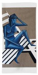 Blue Woman Beach Towel