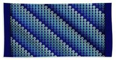 Blue Zag Beach Towel