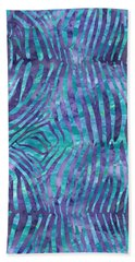 Blue Zebra Print Beach Sheet