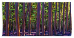 Bluebells And Forest Beach Towel