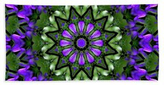 Bluebells And Reflection Beach Towel by Aliceann Carlton
